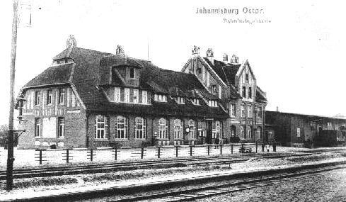 Johannisburg - dworzec PKP #Johannisburg #Pisz