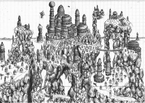 #budynek #fantasy #miasto #rysunek #zamek