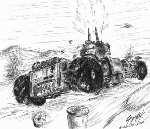 #czołg #pojazd #wóz #rysunek #mecha
