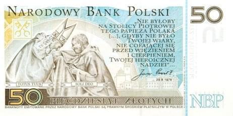 banknot Jan Paweł II