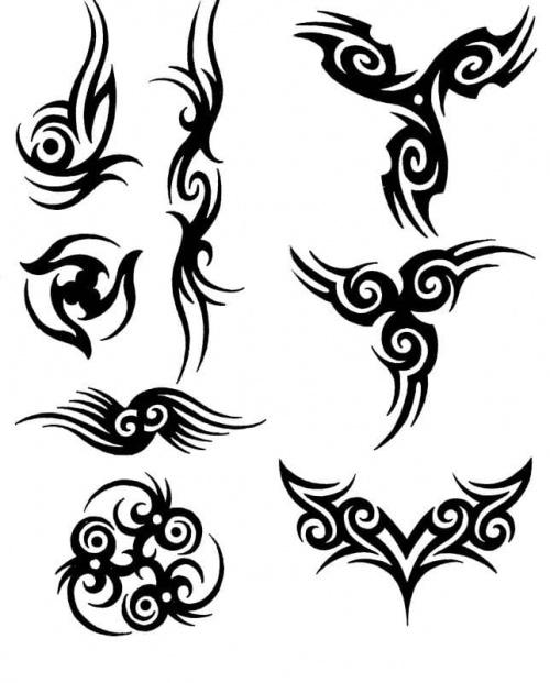 Wzory tattoo. Podobają mi się te wzory, a wam??? Tagi: tattoo