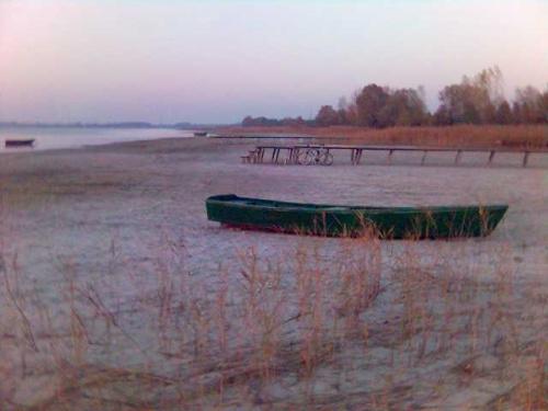 Kosewo - jez. Powidzkie Październik 2005 Wyschnieta plaża na około 100 m