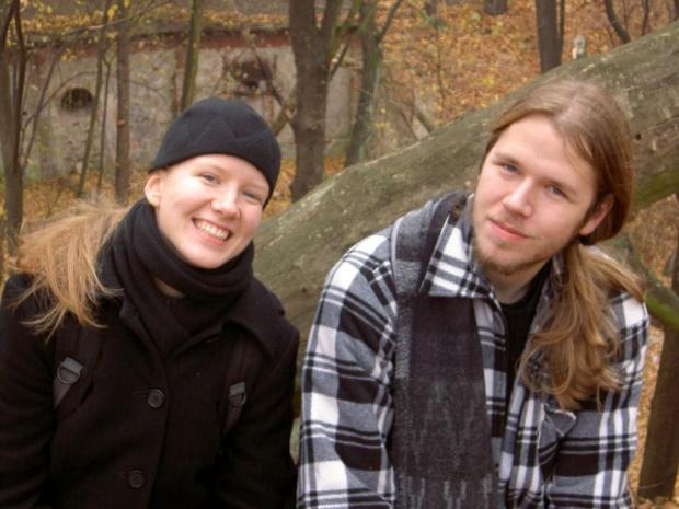 Wizytacja nietoperzy na forcie 7 w Toruniu z moją sis :D Wciąż z brodą ;)