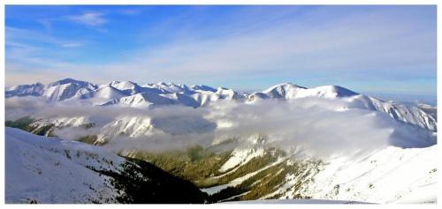widok z Kasprowego - widoczny Małołączniak, Krzesanica #Tatry #góry