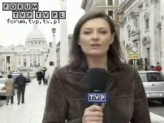 <font color=darkblue size=3><u>2006.03.24 - Wiadomości, TVP1 - Watykan.</u></font><br>Urszula Rzepczak - dawniej dziennikarka i prezenterka Informacji w Polsacie, autorka programu podróżniczego Obieżyświat w Polsat 2 Inter...