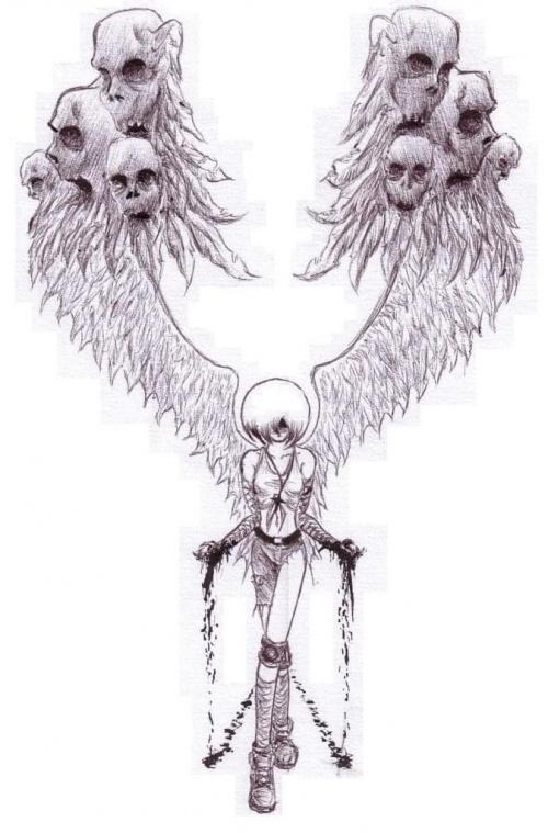 Upadły #angel #anioł #rysunek #gothic #manga #anime