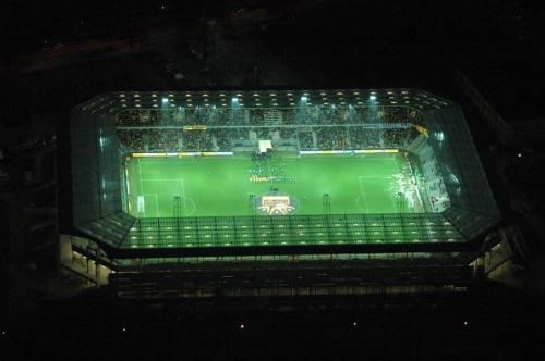 Korona Kielce - stadion nocą. #KoronaKielceKolporterStadion