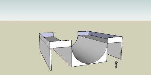Pierwszy render, jeszcze nie pomalowanej rampy... :) #rampa #skatepark #render