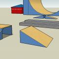 Wersja pokolorowana #skatepark #box #sklep #dach #drzwi #okno #render #prerender